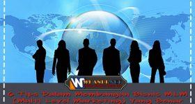 6 Tips Dalam Membangun Bisnis MLM ( Multi Level Marketing ) Yang Benar