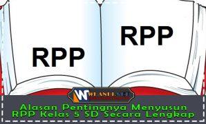 Alasan Pentingnya Menyusun RPP Kelas 5 SD Secara Lengkap