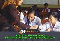 Komponen Penting RPP Kurikulum 2013 SD Kelas 4