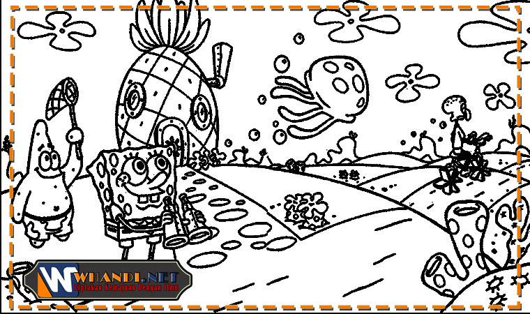 gambar mewarnai kartun bawah laut