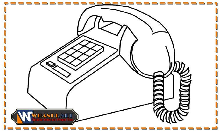 gambar telepon untuk anak tk