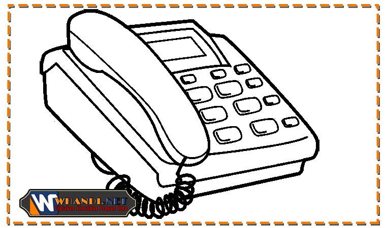gambar telepon untuk mewarnai