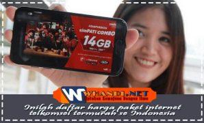inilah daftar harga paket internet telkomsel termurah se Indonesia