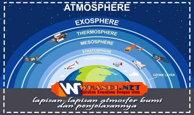 lapisan lapisan atmosfer bumi serta penjelasannya
