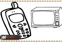 mewarnai gambar alat komunikasi modern