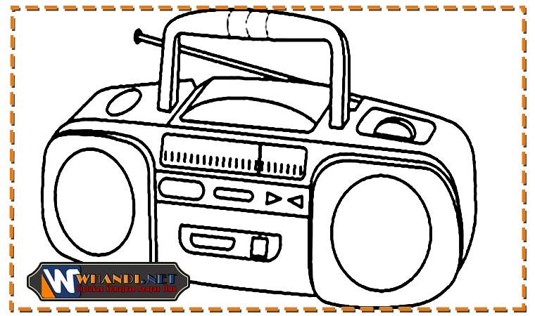 mewarnai gambar radio